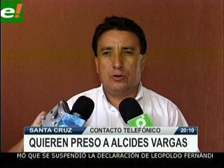 Existe orden de aprehensión para Alcides Vargas
