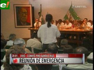 Reunión de emergencia en el Comité Pro Santa Cruz