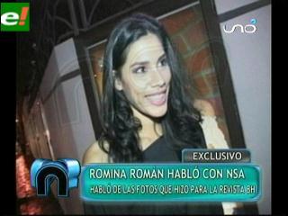 Romina Román habla de las fotos sensuales en BH