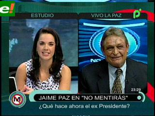 Jaime Paz Zamora habla sobre tema marítimo