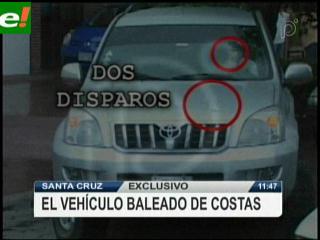 Así quedó el vehículo de Rubén Costas