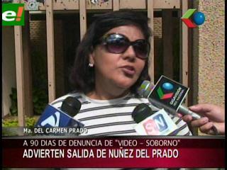 Advierten que Núñez del Prado salió de Bolivia