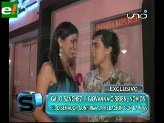 Galo Sánchez y Yovana O'Brien enamorados