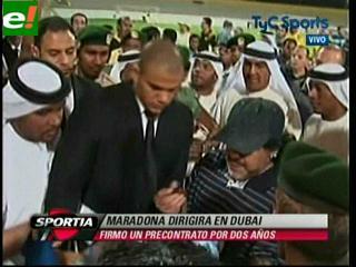 Diego Maradona llegó a Dubai