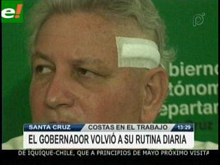 Rubén Costas volvió a trabajar en la Gobernación