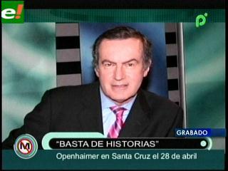 Andres Oppenheimer visita Santa Cruz