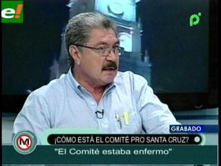 Diagnostico de un médico: Vaca Díez encontró enfermo al Comité Pro Santa Cruz