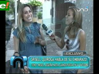 Grisel Quiroga lleva siete meses de embarazo
