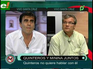 """Gustavo Quinteros no quiso debatir con periodista """"Minina"""" Ardaya en vivo"""
