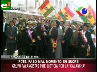 Evo Morales la pasó mal en Sucre