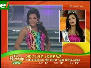 Johana Vaca ciudadana ilustre de Cotoca