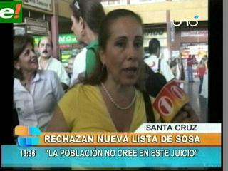 Gobernación cruceña rechaza nueva lista de Fiscal Sosa