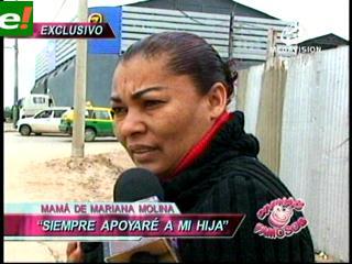 El dolor de la madre de Mariana Molina