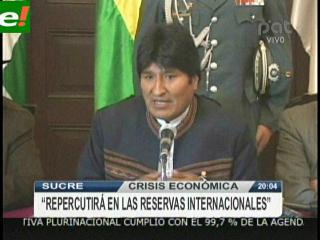 Evo analizará las repercusiones económicas que puede tener Bolivia