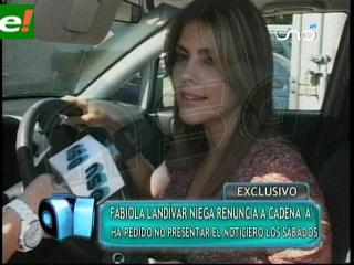 Fabiola Landívar niega renuncia en Cadena A
