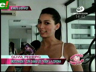 Olivia Pinheiro a pocos días de su viaje al Miss Universo 2011