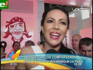 """Davinia Fernádez en posesión de los """"Piratas"""""""