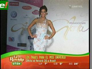 Olivia Pinheiro presentó su vestuario antes del Miss Universo 2011