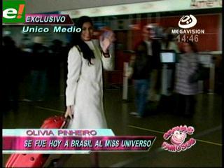 Olivia Pinheiro se fue al Miss Universo 2011