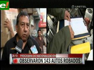 Aduana observó autos robados