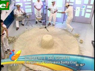 Presentan el Sombrero de Saó más grande