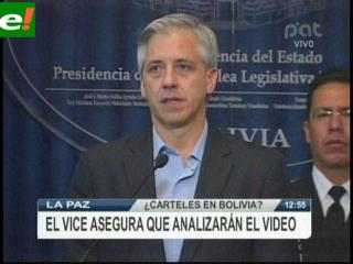 García Linera analizará vídeo de supuestos narcos funcionarios