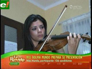 Johana Vaca se prepara para el Miss Mundo