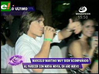 Marcelo Martins pasó las fiestas con amigos