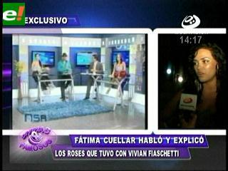 Fátima Cuéllar tuvo un roce con Vivian Fiaschetti