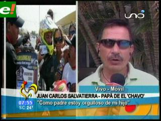 """El padre del """"Chavo"""" Salvatierra está orgulloso"""