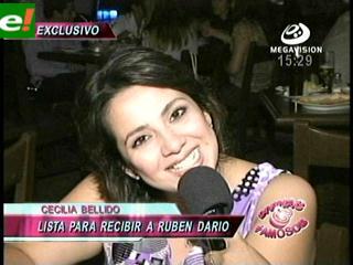 Cecilia Bellido espera a Rubén Darío