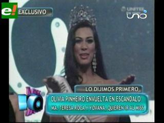 Desata polémica la edad de Olivia Pinheiro Miss Bolivia