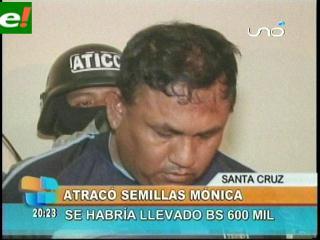 Presentan al atracador de Semillas Mónica