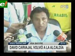 David Carvajal regresó a la Alcaldía de Yapacaní