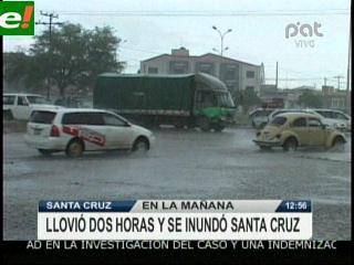 Volvieron a inundarse las calles de Santa Cruz