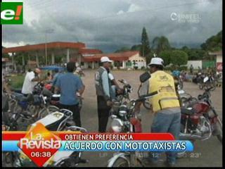 Mototaxistas desbloquean y reciben aval a 4 demandas