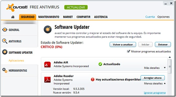 Avast-softwareupdater
