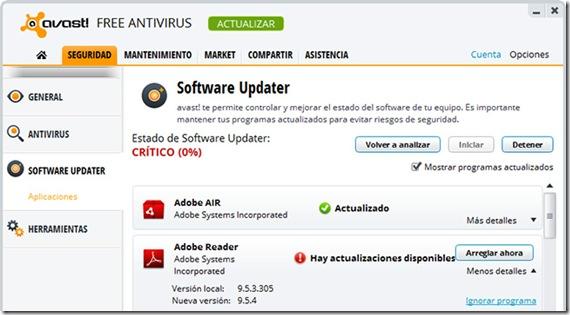 Avast-softwareupdater
