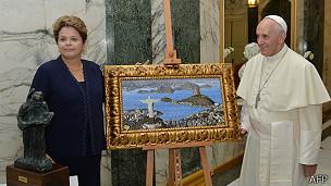Dilma Rousseff, papa Francisco