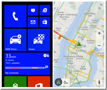 Nokia Here en windows Phone
