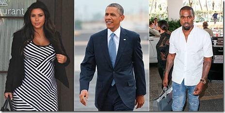 Kim Kardashian, Barack Obama y Kanye West