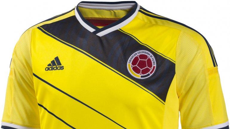 No habrá vivos rojos en la camiseta colombiana de Brasil 2014