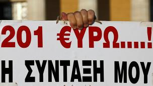 Reclamo por pensiones en Grecia
