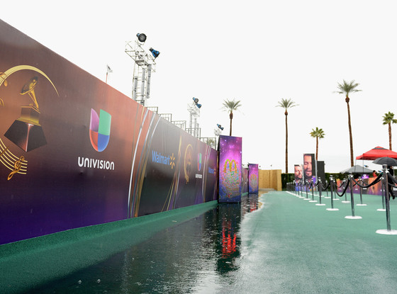 Latin Grammy Awards Flooded Red Carpet