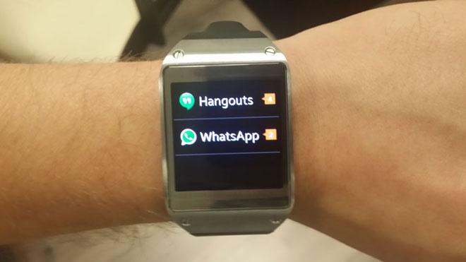 Sistema de notificaciones en el Galaxy Gear