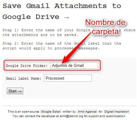 adjuntos gmail gdrive