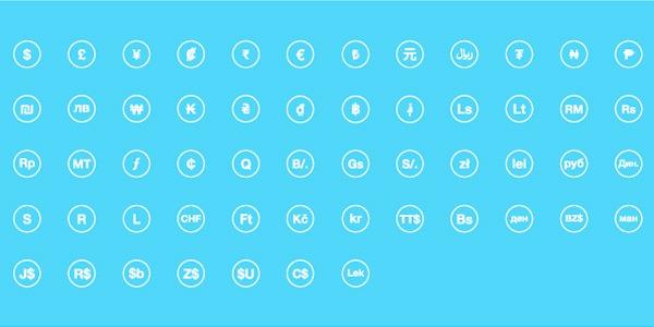 iconos de monedas