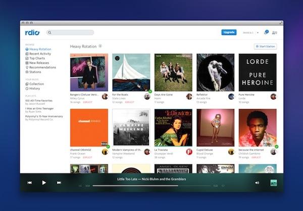 Rdio permite escuchar música de manera gratuita desde la web