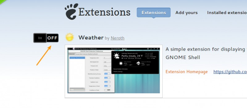 extensiones para gnome shell 3.10