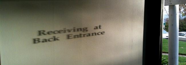 texto proyectado pared